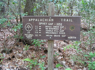 AT Sign near Spivey Gap