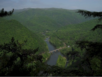 View of the Nolichucky Gorge