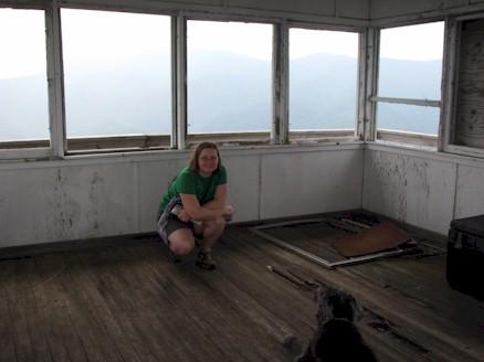 Inside Green Knob Fire Tower