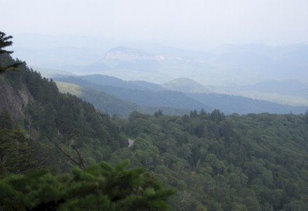 View towards Looking Glass Rock