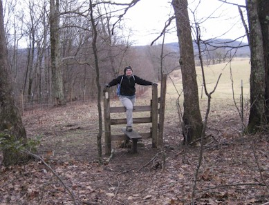 Stile crossing on the Appalachian Trail