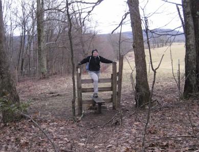 Stile crossing on the Appalachian Trail